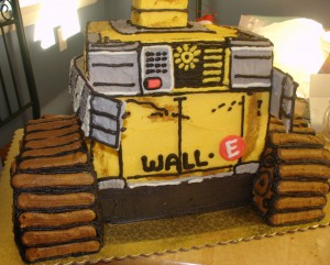 Here is a close-up of WALL-E's front.
