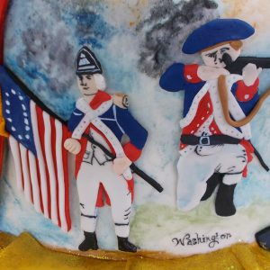 Continental soldiers in fondant relief