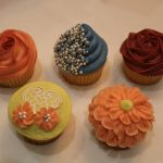Cupcakes from a decorating class
