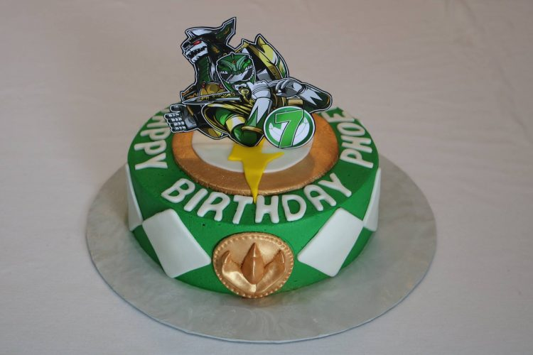 Green Power Ranger Birthday Cake