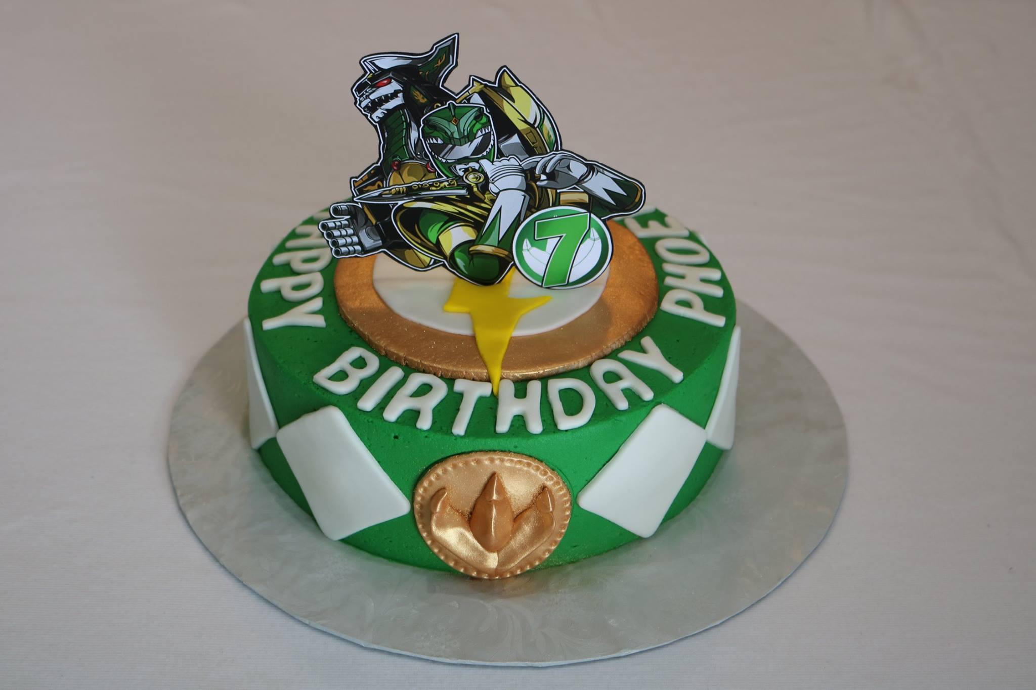 Green Power Ranger Birthday Cake Rexburg Cakes