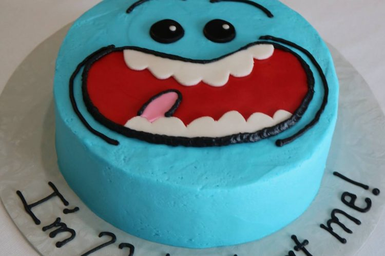 Mr. Meeseeks Birthday Cake