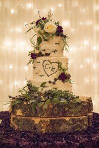 Aspen Tree Buttercream Wedding Cake