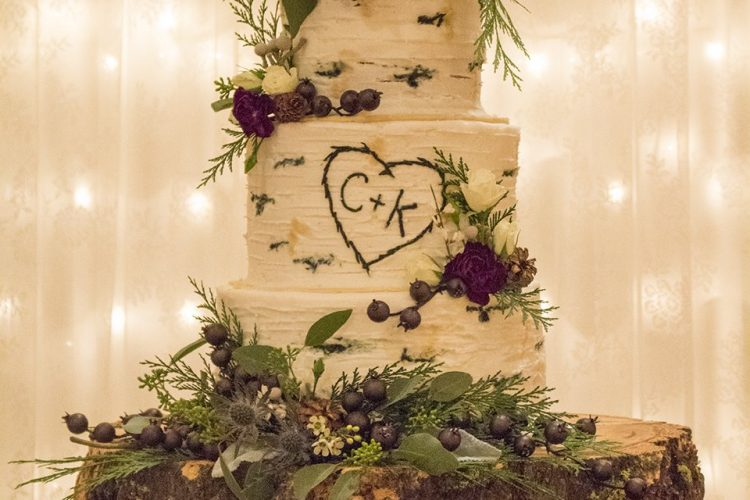 Aspen Tree Buttercream Wedding Cake