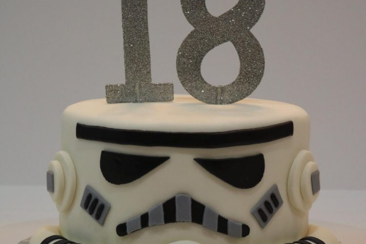 Star Wars Storm Trooper Helmet Cake