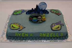 Teenage Mutant Ninja Turtles themed Birthday Sheet Cake