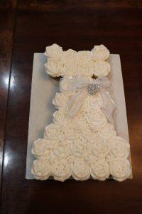 Baptism Dress Cupcakes