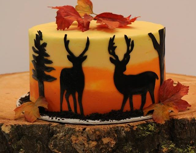 Deer Hunting Themed Birthday Cake