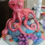 Octopus Cake finished paint