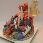Octopus Cake Side View